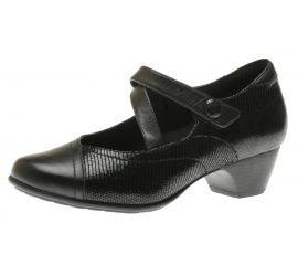 Portia Black Mary Jane Low Heel