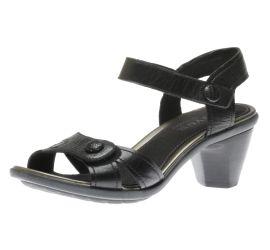 Mila Black Leather Sandal