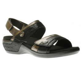 Katherine Black/Metallic Sandal