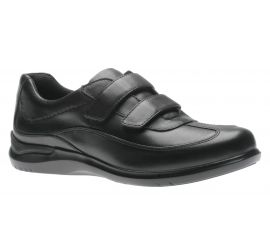Flora Black Double Strap Sneaker