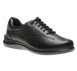 Farren Black Leather Lace-Up Sneaker