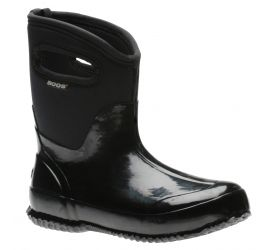 Classic Mid Handles Black Women's Insulated Boot