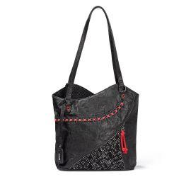 Black Red Stitching Handbag