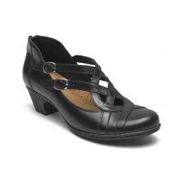 Abbott Curvy Black Shoe