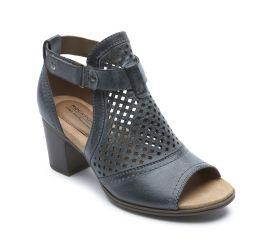 Hattie Hi Cuff Black Sandal