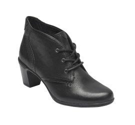 Rashel Chukka Black Leather Ankle Boot