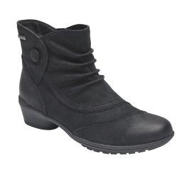 Raven Waterproof Black Button Boot