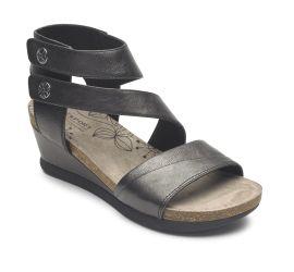Shona Black Cuffed Sandal