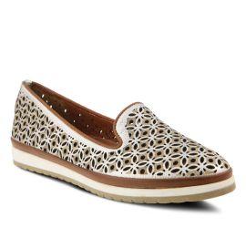 Tulisa Silver Leather Slip-On Loafer